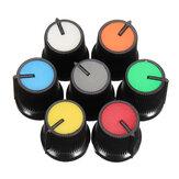 10 stuks Rood / Blauw / Oranje / Grijs / Groen / Wit / Geel Plastic Voor Rotary Taper Potentiometer Gat 6mm Knop