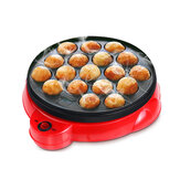 18 Lỗ Điện Octopus Ball Grill Takoyaki Baking Mold Machine Mini Electric Chibi Maruko Grill Pan