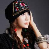 Etnik Nakış Züppe Beanie Caps Pamuk Ulusal Şapka
