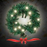 30 CM 40 CM Sıcak Beyaz Duvar Asılı Garland Süs Noel Çelenk Dekor Için Xmas LED Lamba Ile