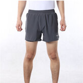 ARSUXEO Shorts de running 2 en 1 para hombre con cintura Cuerda Quick Dry Zipper Pocket Sports Aptitud Gym Shorts