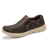 Menico Men Comfy Lightweight Soft Sole Slip On Boat Chaussures