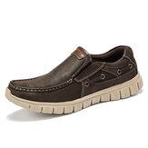 Menico Men Comfy Lightweight Soft Sole Slip On Boat Shoes