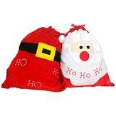 Decorazione della calza di Natale Santa Candy Borsa Regalo di Natale della calza Borsas Caramelle di immagazzinaggio dei monili