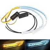 2 PCS 30 CM à prova d 'água LED carro DRL luz de tira de lâmpada de circulação diurna Soft banheira