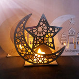 Wood DIY Decorations Islamic Palace Eid Al-Fitr Mubarak Gifts Home Ornament