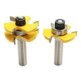 Verrouiller Mitre Routeur Bit 1/2 pouce Tongue et Groove Colle Joint Set 1-7 / 8 pouces Cutter