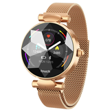 Bakeey B80 Vrouwelijke menstruatie Record bloeddruk Milanese staal Mode Smart horloge Whatsapp Herinnering 8 Sportmodus