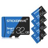 ستيك درايف 16GB 32GB 64GB 128 جيجا كلاس 10 سرعة عالية 80 ميجا بايت / ثانية TF ذاكرة بطاقة مع بطاقة محول للجوال هاتف Tablet الة تصوير Speaker Car DVR