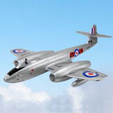 Dynam Gloster Meteor F.8 Meteor 1270mm Winspan Dual 70mm 6S 12-Blades Ducted EDF Jet EPO RC Vliegtuig PNP
