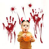 Halloween Blood Handprint Glass Window Naklejka Zdejmowane naklejki ścienne Salon Dekoracje klasowe