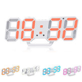 Loskii HC-28 Creative USB Charging 3D Digits Adjustable Brightness Thermometer Date Display LED Alarm Clock