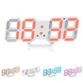 Alarme de brilho ajustável HC-28 de carregamento USB criativo 3D com display de dígitos