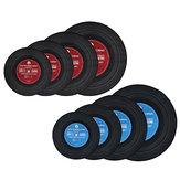 Moderne Schallplatte gedruckt Runde Bodenmatte Teppich Faser Pad Schlafzimmer Teppich Hauptdekorationen
