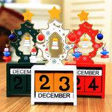 クリスマスクリエイティブギフトミニ木製カレンダーホームオーナメントテーブルデスクの装飾