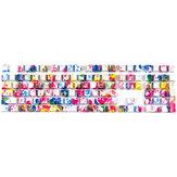 108 teclas Graffiti Keycap Set Perfil OEM ABS Transmisión de luz translúcida Colorful Graffiti Keycaps para 61/87/104/108 teclas Mecánico Teclados