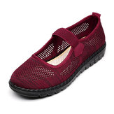 Women Mesh Breathable Soft Sole Casual Elastic Band Loafers