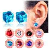 Creative Unisex Cubic Crystal Magnetic Clip Earrings