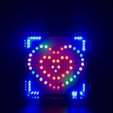 DIY Full-color RGB Heart-shaped LED Flashing Kit Electronic Kit