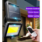 120 LED Outdoor Solar Power Motion Sensor Wandlamp Waterdichte Garden Yard Lamp met afstandsbediening
