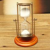 15 minutos de reloj de arena de arena de reloj de arena Reloj mesa temporizador decoración del hogar adorno de escritorio