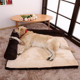 Luxury Corduroy Bolster Pet Dog Sofa Bed Puppy Fleece Bed Mat for Large Dog Pet Bed