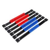 6pcs 1/4 3/8 1/2 Inch Enchufe Organizador Soporte de riel de soporte deslizante montable herramienta de almacenamiento