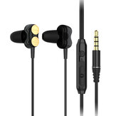 Lenovo H102 Wired Earphone Dual Dynamic Drivers Hifi Stereo In-ear Earbuds Noise Reduction Sports Headphones with Microphone