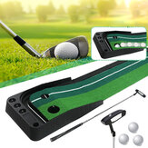 3M Golf Putting Mat + Putter + 3 piezas Pelota de golf Golf Putter Entrenador de pelota Retorno herramientas Golf Fairway