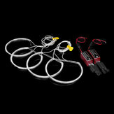 4PCS 146MM+131MM CCFL LED Angel Eyes Light Headlight Halo Ring Set White Color For BMW E46