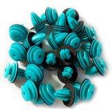 100 Pcs D-18 Bleu Auto Fixation Véhicule De Voiture Bumper Clip De Retenue De Fixation Rivet Panneau De Porte Fender Doublure Pour BMW Honda