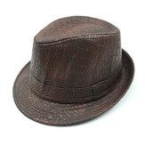 رجل بو الجلود التمساح نمط الجاز قبعة في الهواء الطلق منتصف العمر واسعة الحواف القبعات فيدورا
