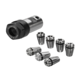 7Pcs ER11 1-7mm Spring Collets avec ER11A 5mm Moteur Shaft Holder Extension Rod