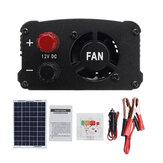 LEORY LCD Denetleyici AC230V 1000W Solar Güç Sistemi Solar Panel + Solar Denetleyici + İnvertör Seti