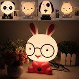 Beau bébé enfant chambre bureau nuit chien lumière lampe ours lapin de dessin animé panda 220v