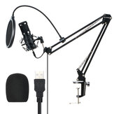 BlitzWolf® BW-CM2 Condenser Microphone USB Microphone Audio Dynamic System Kit Cantilever Bracket Anti-spray Net Set Sound Recording Vocal Microphone