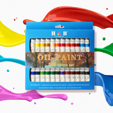 H&B HB-OP24B Profesjonalny 24-kolorowy 12 ml pigmentu propylenowego Ręcznie malowany zestaw DIY Zestaw farb do akwareli dla malarza sztuki