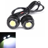 2pcs 12V 3W Motocicleta LED Daylight Daytime Running Fog Lamp
