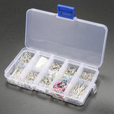 610Pcs Handmade Jewelry Tools Kits Head Pins Chains Findings Accessories Silver with Box