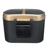 Mini Car Garbage Cans Waste Bin Desktop Basket Table Home Office Trash Can With Lid