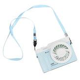 3 in 1 Portable Hanging Necklace Fan 3 Speeds LED Desk Fan For Home Office School