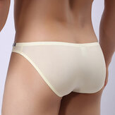 Mens Sexy Transparent Separated Ice Silk Silky Briefs 8 Colors