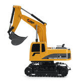 1/24 6CH RC حفارة مهندس شاحنة نماذج مركبات البناء للأطفال ألعاب داخلية مسار معدني