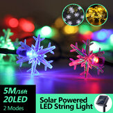 5M 20LED Solar Power Fairy String Lights Waterproof Christmas Holiday Party Lamp for Outdoor Decor