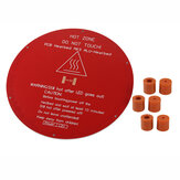 220*220*3mm Red MK3 Round Aluminum Substrate Base Plate with 6pcs Silica Gel Column for 3D Printer 3DSWAY D130 Anet A4/E2