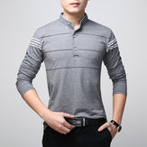 Men's O-Neck Striped Long-sleeved T-shirts