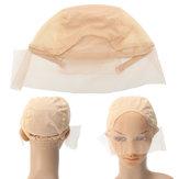 Wig Cap For Wig Making Weave Cap Elastic Hair Net Mesh Adjustable Straps