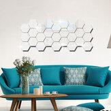 12Pcs 3D Wandaufkleber DIY Spiegel Sechseck Vinyl Abnehmbarer Aufkleber für Home Living Room Art Decoration