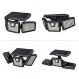 BlitzWolf® BW-OLT4 Rotatable 3 Heads Adjustable Waterproof 120°PIR Sensor Solar Flood Light