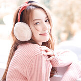 Mujer Warm Soft Orejeras plegables a prueba de viento lindo calentador de orejas